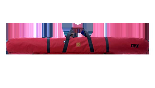 Чехол для лыж ПУХ бордовый